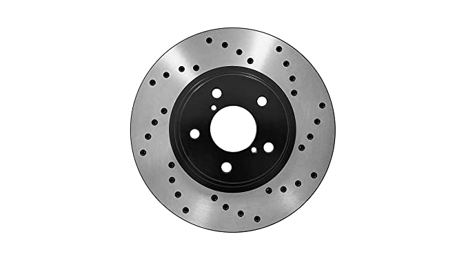 Anti Rust Coated Rear Disc Brake Rotors and Ceramic Brake Pads for 2016 Toyota Venza Brake Pads Include Hardware - With Two Years Manufacturer Warranty Inroble