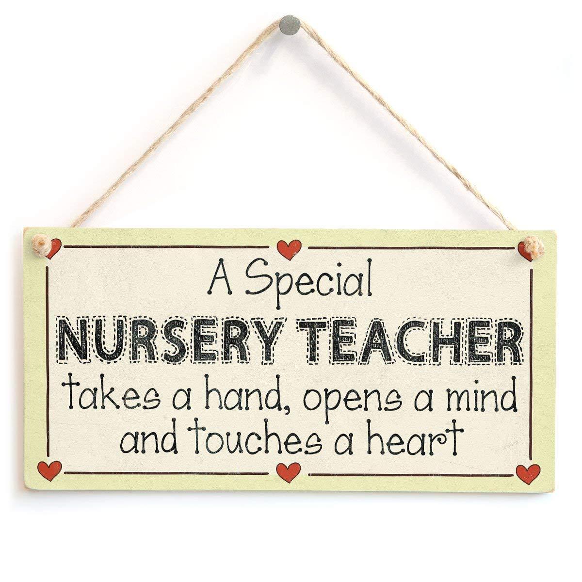 A Special Nursery Teacher Letrero de Placa de Madera ...