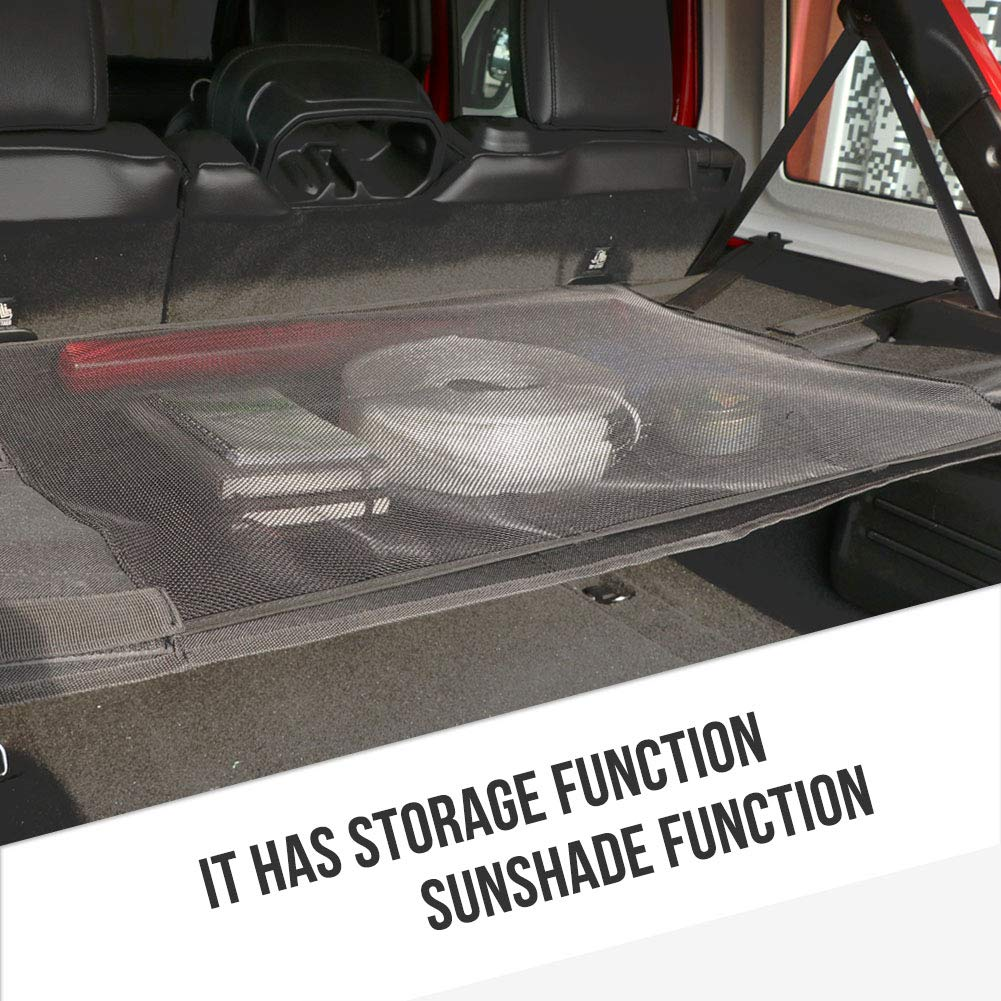 bestaoo Jeep JL Rear Trunk Cargo Cover for Wrangler JL JLU Sports Sahara Rubicon 2018 4 Doors