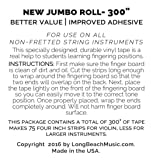 Jumbo YELLOW Color Violin Fingering Tape for