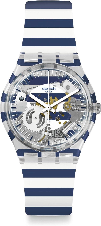Swatch Reloj Analógico para Hombre de Cuarzo con Correa en Silicona GE270