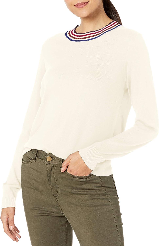 Splendid Womens Cashmere Blend Long Sleeve Pullover Sweater