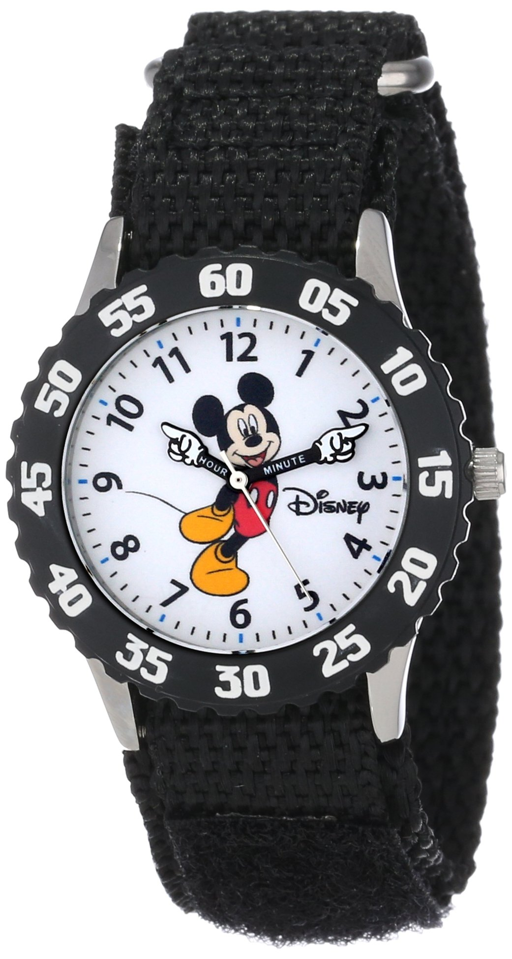 Disney Kids' W000233 ''Mickey Mouse'' Stainless Steel Time Teacher Watch by Disney
