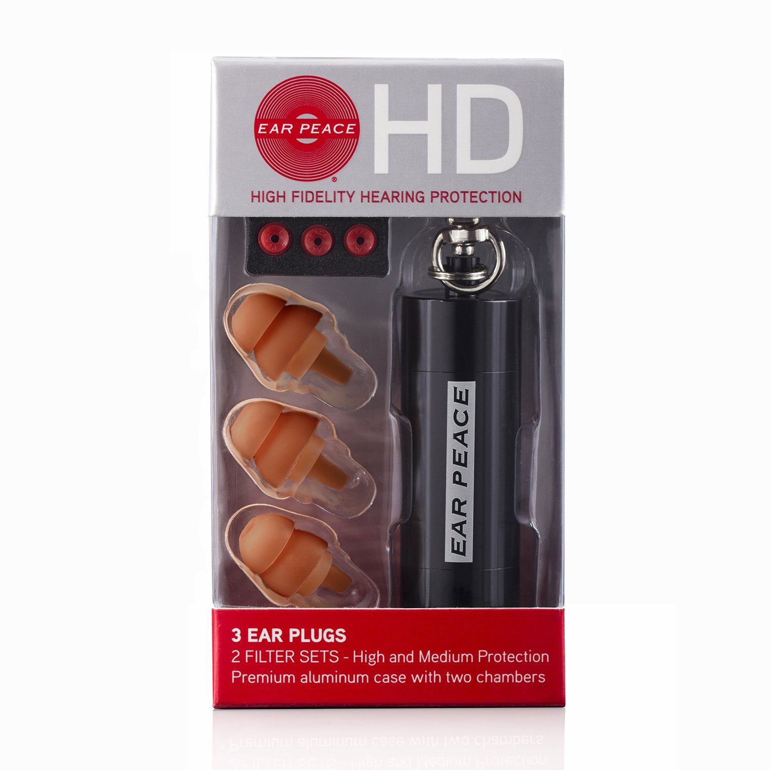 Amazon.com: EarPeace HD Ear Plugs - High Fidelity Hearing Protection for Concerts & Music Professionals (Black/Brown): Health & Personal Care