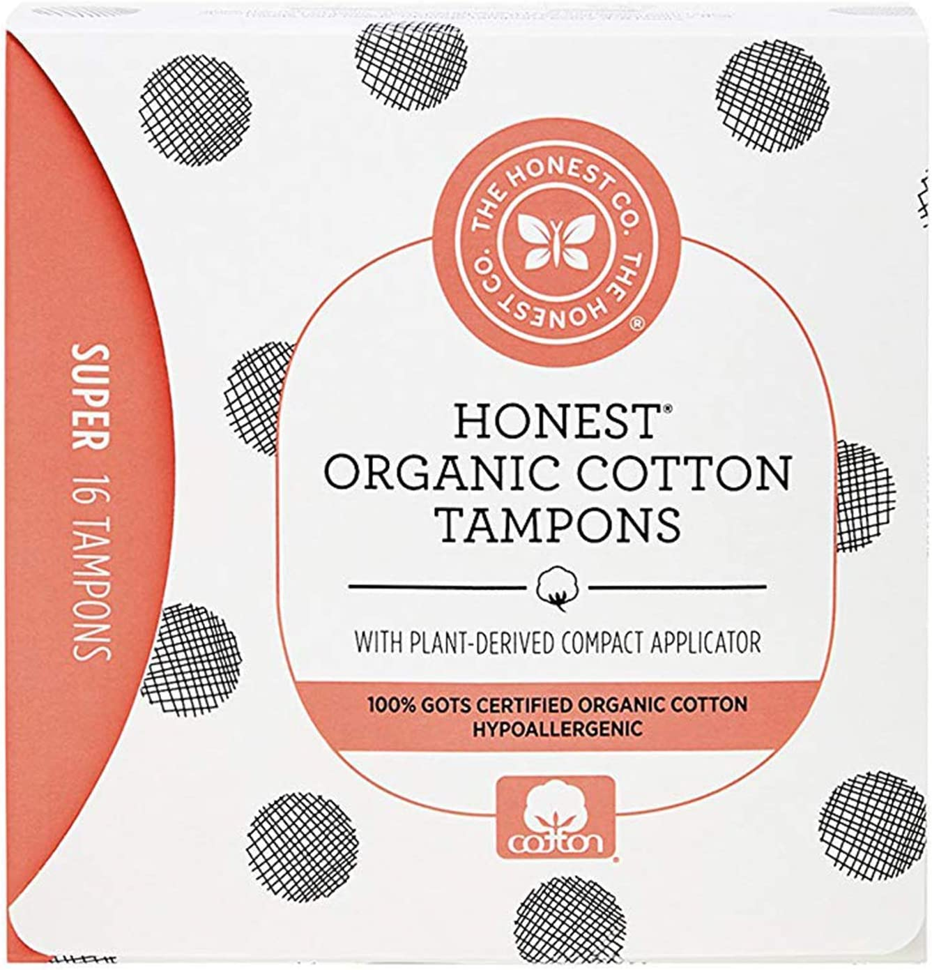The Honest Company Organic Cotton Tampons with Plant-Based Compact Applicator