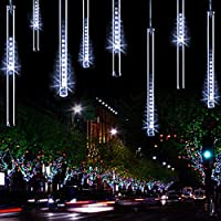 YSIM Meteor Shower Rain Lights,Ultra Bright Romantic Lights for Party, Wedding, Christmas, etc.11.8inch 8 Tubes