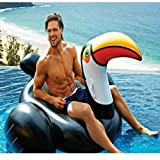 150X100X86CM Giant Inflatable Mounts Flamingo Floats PVC Inflatable Floating Bed Raft Toy Lounger Toy for Adults & Kids Water Recreation Chair (Big mouth Flamingo 150CM)