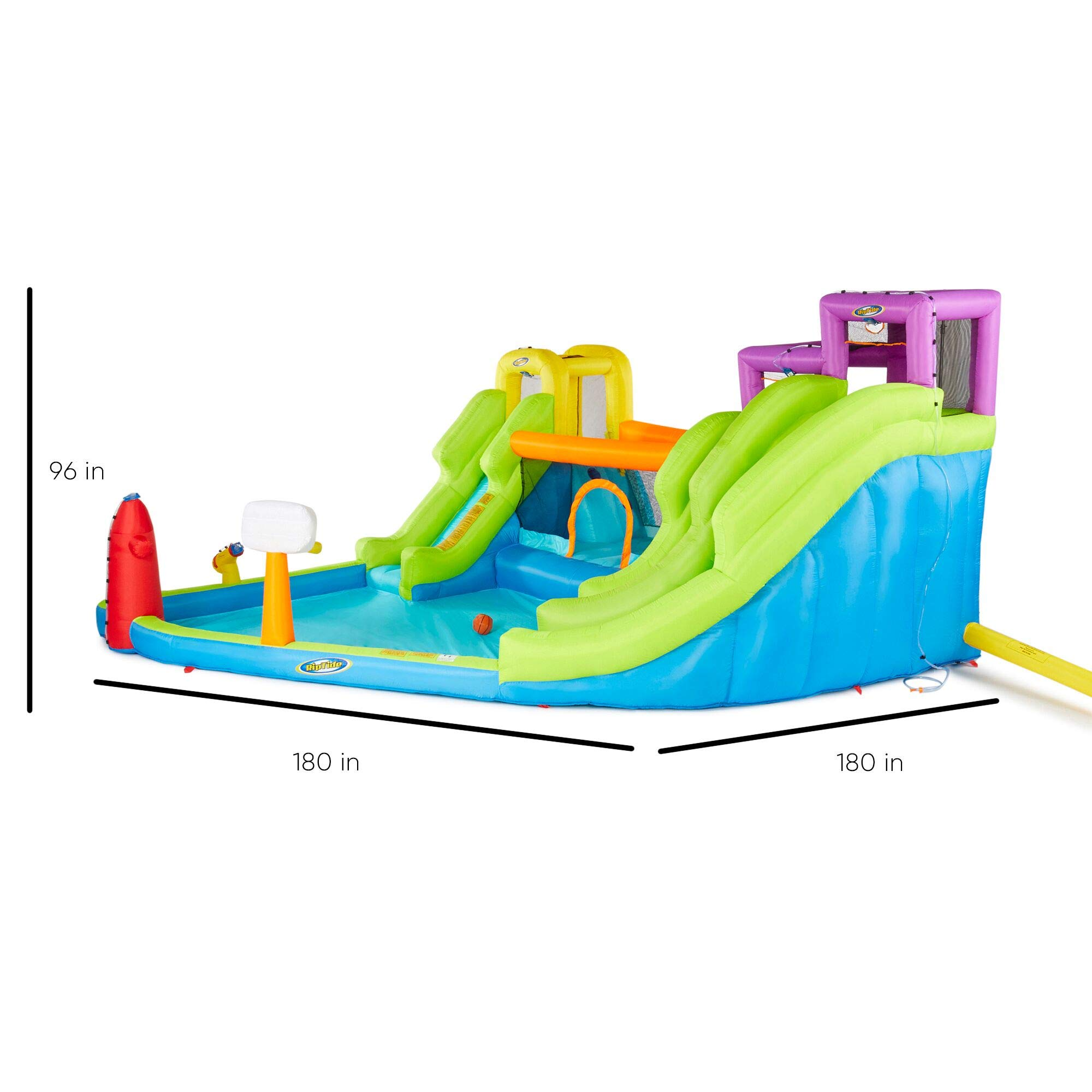 Riptide Triple Fun Inflatable PVC Water Park with 3 Slides & Obstacle Course by Riptide (Image #3)