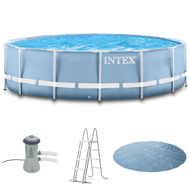 Intex 366x122 Komplettset mit Intex Kartuschenfilteranlage 3406L/Std ...