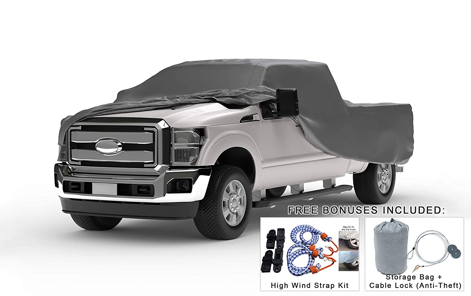 Dodge 2500 Mega Cab >> Weatherproof Truck Cover Compatible With 2010 2019 Dodge Ram 2500 Mega Cab 6 3 Ft Bed 5l Outdoor Indoor Protect From Rain Snow Hail Sun