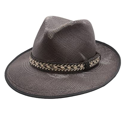 Bailey of Hollywood Grimmer Fedora Hat Wide Brim Size S Noir at ... cfacb04377d