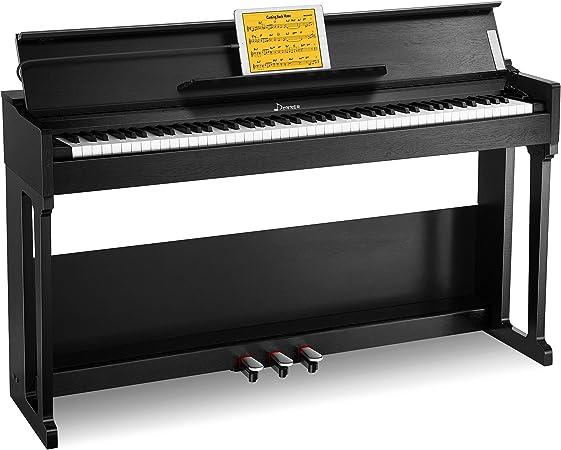 Donner Home Digital Piano 88 teclas, paquete de teclado de piano compacto con soporte de muebles Triple pedales para principiantes Hobbyists, DDP-90 ...