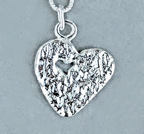 Sterling Silver Necklace Heart Charm Christmas Gift Sterling Silver Heart Necklace Heart Pendant