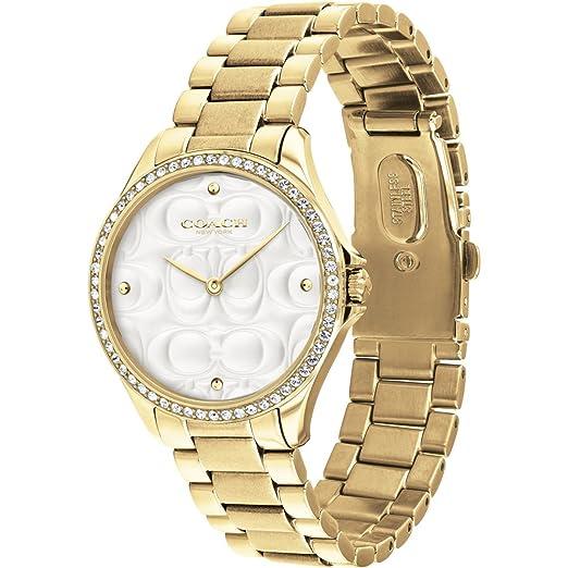 Coach Reloj Deportivo Moderno para Mujer en Dorado 14503071: Amazon.es: Relojes