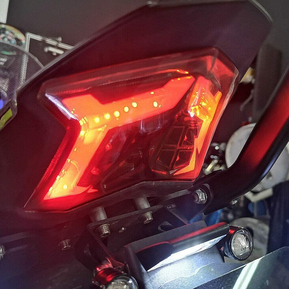 LED Tournez signal darr/êt de freinage Feu arri/ère pour 2017-2018 Kawasaki Z900 Z650 Ninja 650
