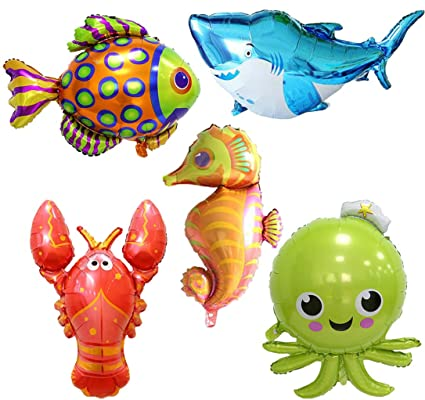 Amazon.com: Under The Sea Animal Party Supplies Globos de ...