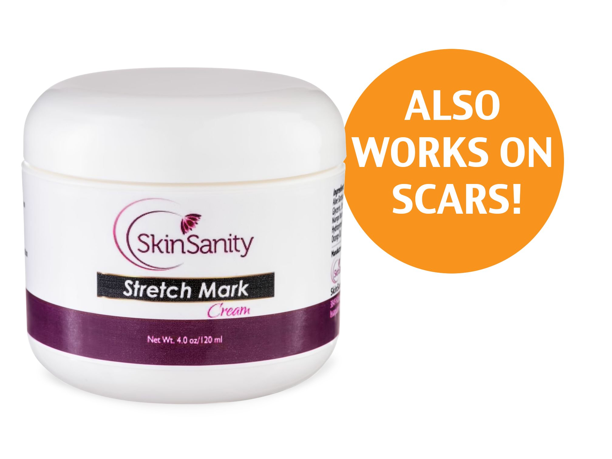 #1 Recommended Best Stretch Mark Cream - Used to Naturally Prevent, Repair and Remove Stretch Mark Scars Associated with Pregnancy, Exercise and Weight Gain or Loss. 100% Money Back Guarantee. This Skin Care Product is great for Moms, Bodybuilders, Women