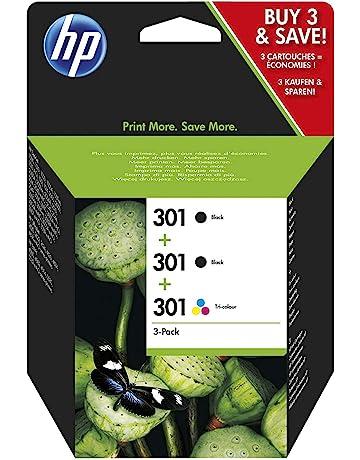 HP 301 Multipack Original Druckerpatronen (2x Schwarz, 1x Farbe) für HP Deskjet, HP ENVY, HP Photosmart