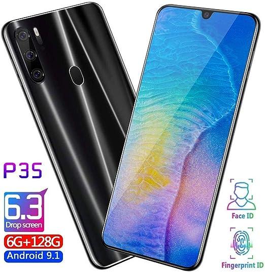 6.3 Pulgadas Smartphone Pantalla OLED Leica Triple Camera 6 GB De Ram TeléFono MóVil Android Emui 9.1.0 BateríA De 4800 Mah (Negro, Azul, Rojo),Negro: Amazon.es: Hogar