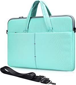 13.5-15 Inch Laptop Case for Lenovo Flex 14/Yoga C940 C740 C930/ ThinkPad 14,Acer ASUS Chromebook Vivobook 14,Dell Inspiron 14/HP Pavilion 14/Dell Latitude 14 Notebook Bag(Green)