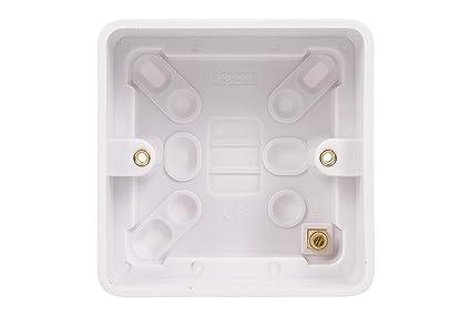 Schneider Electric GGBL9147 Lisse - Caja para pattras, superficie moldeada, 1 banda, color blanco, 40 mm, 10 unidades: Amazon.es: Industria, empresas y ciencia