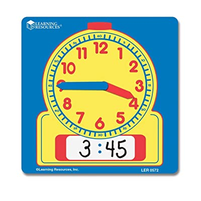 Learning Resources Write and Wipe Student Clocks, Set of 10: Toys & Games