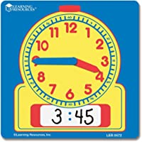 Learning Resources Write and Wipe Student Clocks, Set of 10,Multi-color