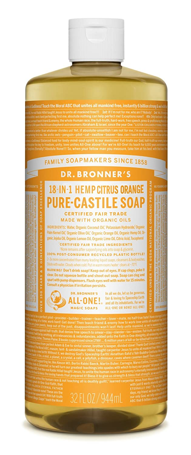 Dr. Bronner's - Pure-Castile Liquid Soap (Citrus, 32 Ounce)