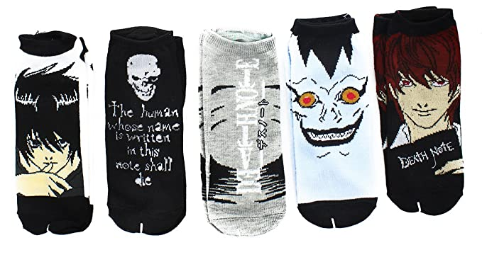 Death Note Unisex Low Cut Calcetines de 5 Pack Assortment DN de 0028: Amazon.es: Ropa y accesorios