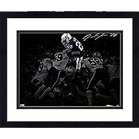 """Framed Josh Jacobs Las Vegas Raiders Autographed 11"""" x 14"""" Touchdown Dive Photograph - Autographed NFL Photos photo"""