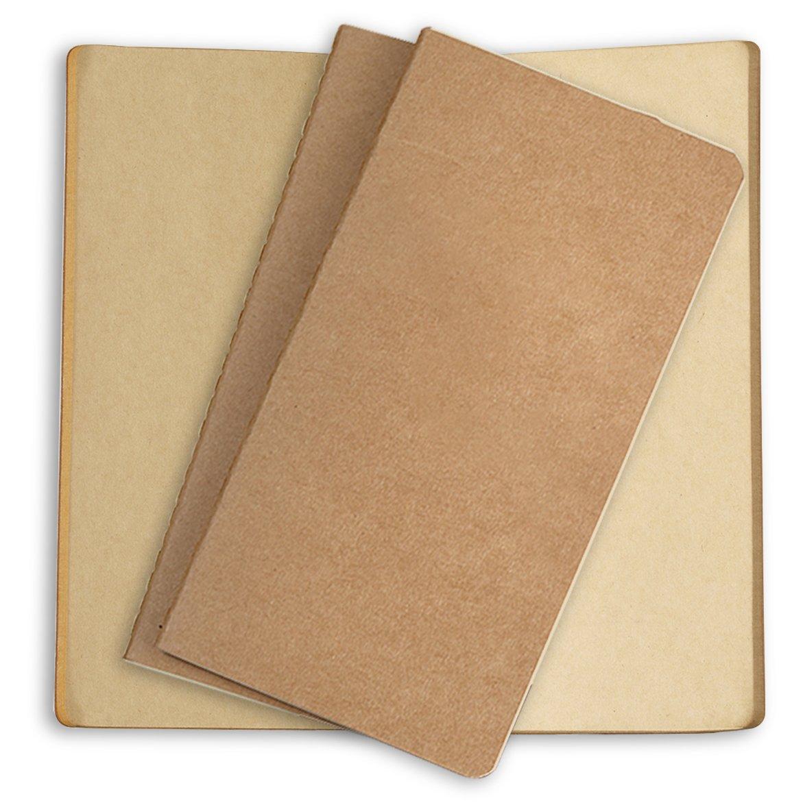 Sovereign-Gear - Set di 3 quaderni di ricambio per diario in pelle 3 Cream - Squares SG-PRPP-3