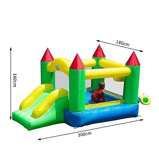Castillo Hinchable 300x180x160cm Castillos Infantiles Juego Niños ...