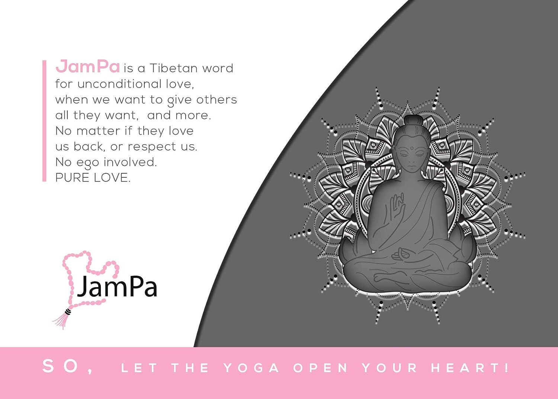 JamPa Yoga Pillow Round Filled with Buckwheat Hulls Zafu Meditation Cushion