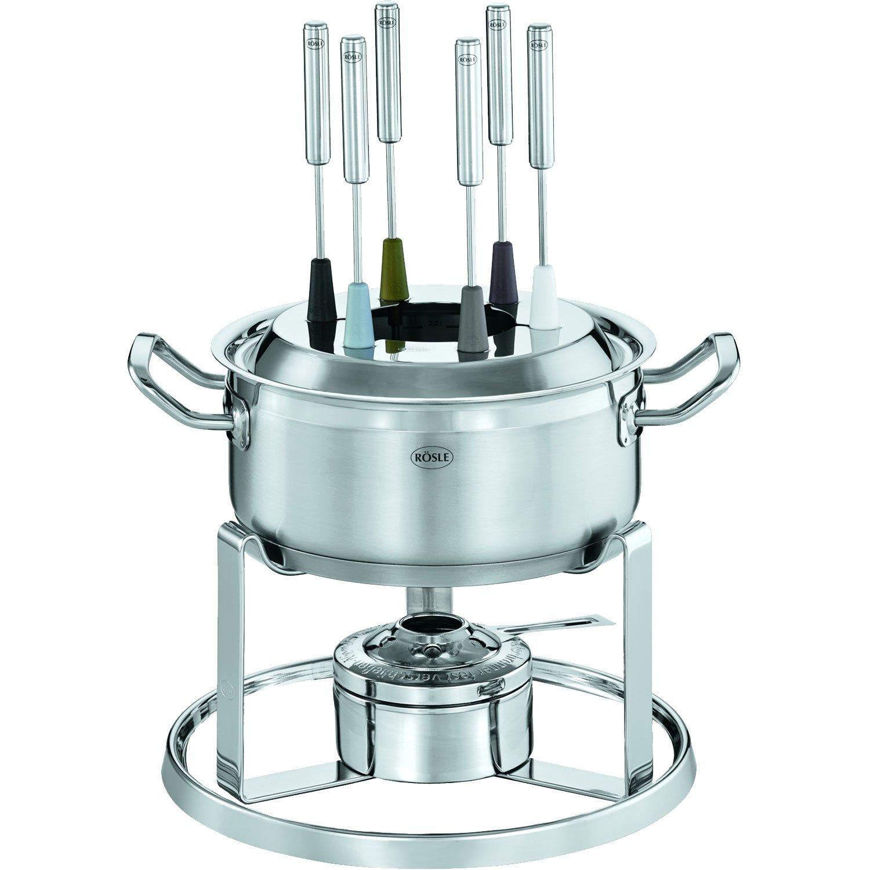 Rösle - Juego de fondue (20 cm, con grabadora de pasta y 6 ...