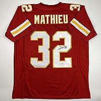 $149 » Autographed/Signed Tyrann Mathieu Kansas City Red Football Jersey PSA/DNA COA