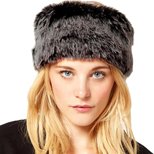 AMA(TM) Womens Faux Fur Headband Winter Cap Headgear Earwarmer Earmuff Snow  Hat ( fb6c5837553