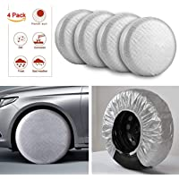 Wheel Tire Cover Wolfs In The Snow Beautiful Winter Car Tire Cover Protective Cover Water Proof Universal Spare Wheel Tire Cover For Suv Rv Travel Trailer Camper Accessories Various Vehicles 70~75cm