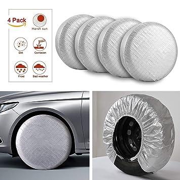 Protectores de neumáticos para Llantas RV Motorhome Protectores de Sol Impermeable película de Aluminio, Forro
