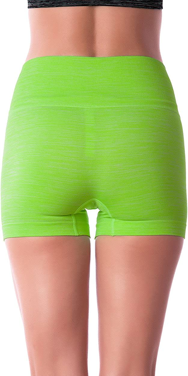 Homma Womens Seamless Compression Heathered Yoga Shorts Running Shorts Slim Fit /…