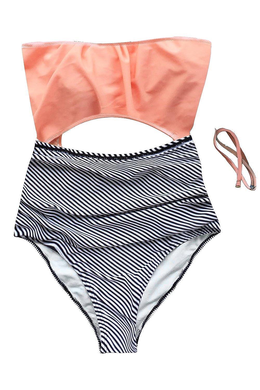Summer Mae Las Mujeres Neckholder Monokini Escotado Vestido ...