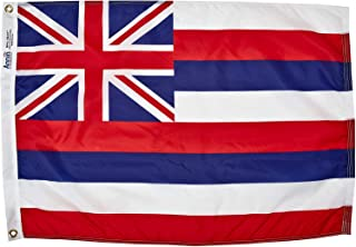 product image for Annin Flagmakers Model 141250 Hawaii Flag Nylon SolarGuard NYL-Glo, 2x3 ft, 100% Made in USA to Official State Design Specifications