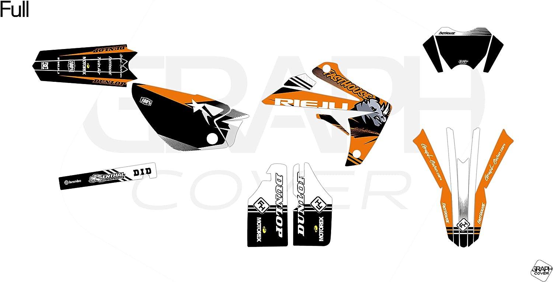 KIT Deco Motocross RIEJU MRT 50 IKE Orange 4 MINIS PLAQUES OFFERTES