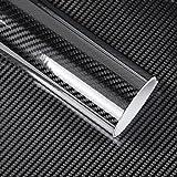 Bundle of 2, KKmoon Black 5D Vinyl Film Carbon Fiber Car Wrap Film Carbon Fiber Car Sticker Accessory Auto Film
