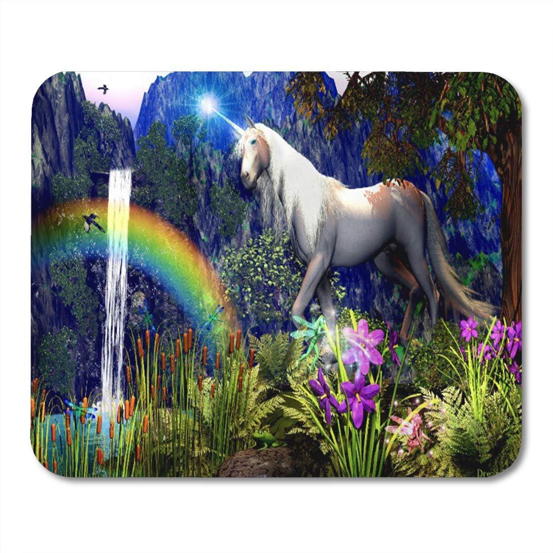 Rainbow Waterfalls Of Dreams Mousepad Mouse Pad Mat