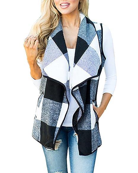 Amazon.com: Sumtory - Chaquetas de lana sin mangas para ...