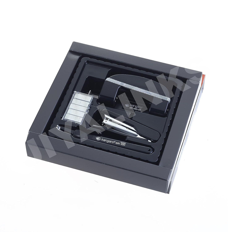 Office Stationery Set Stapler Hole Punch 1000 Staples Staple Remover Green