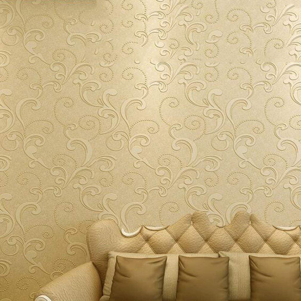 Homgrace Modern Minimalista 10 M Mejoras para el hogar de gama alta lujo 3D Wave flocado dise/ño texturizado papel pintado rollos para sala de estar dormitorio