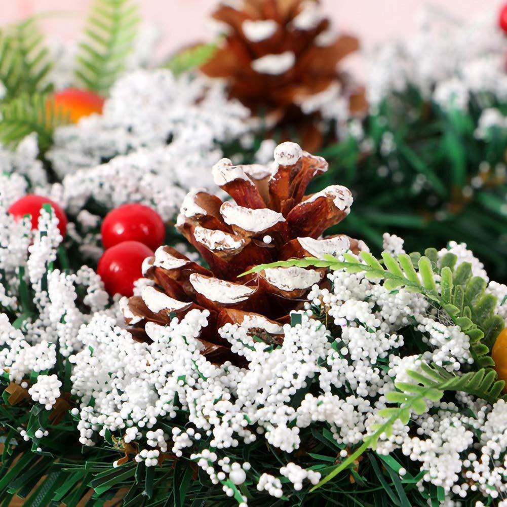 YOUNICER 20//30//40 cm Weihnachtskranz Dekoration//T/ür K/ünstliche Weihnachten Rot//Weihnachtssterne//Holly Cone Ideal F/ür Au/ßen//Innen