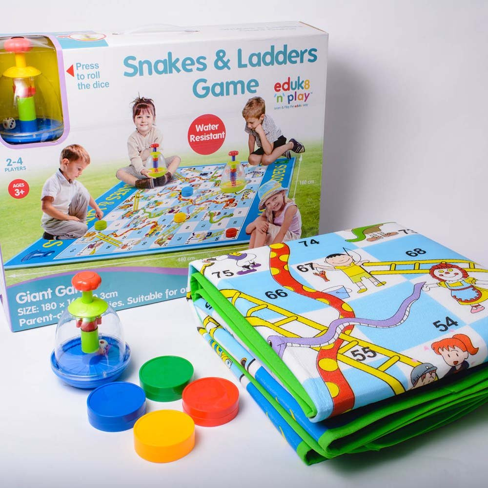 In- Door Dice Game Giant Out Door Traditional Snakes and ladders