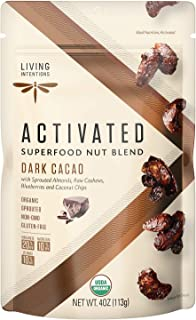 product image for Living Intentions Sprouted Organic Nut Blend– Dark Cacao– NonGMO – Gluten Free – Vegan – Paleo – Kosher – 4 Ounce Unit